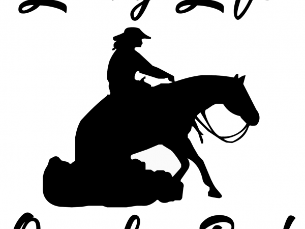 Vehicle Decal - Living Life on a Loose Rein - Cowgirls Loft