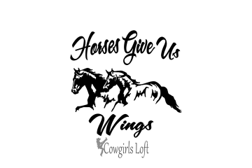 Horses Give Us Wings vinyl decal