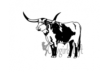Longhorn steer Cattle decal