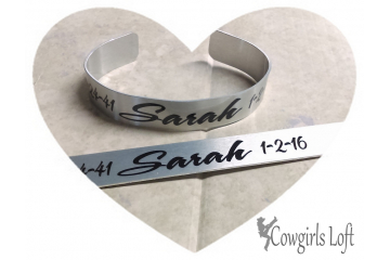 Personalized Custom Saying Bracelet